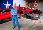 Jerry Cox stands with his collection of Mopar vehicles at his home garage, May 14, 2013. From left, 1972 Dodge Demon, 1958 Dodge D100 pickup, 2008 Dodge Viper ACR.
