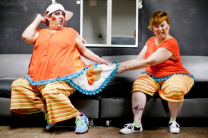 Summer Mummers performers AJ Sanchez and Debbie Kelly will be sharing the same role in the upcoming Summer Mummers performance. Sanchez is a Mummers veteran while Kelly is a newcomer. The pair were photographed Saturday, May 21, 2016, in the green room at the Yucca Theatre.